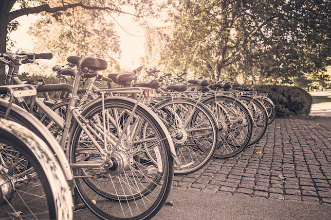 bicycles-in-rack-summer-day