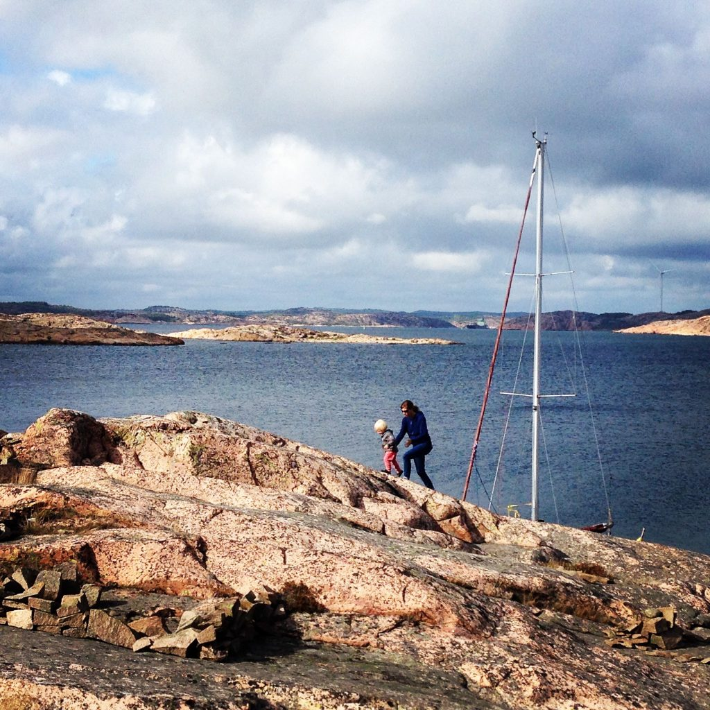 Climbing Flatholmen with Leif