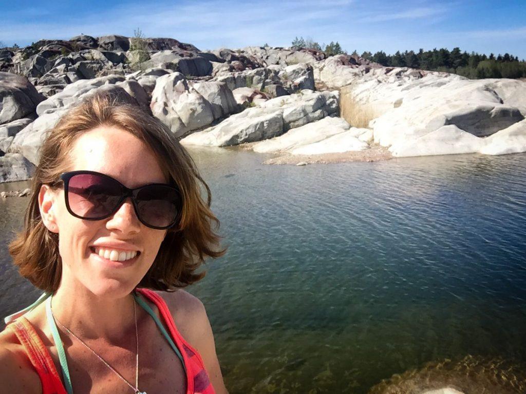 Lisa Ferland in Stockholm archipelago