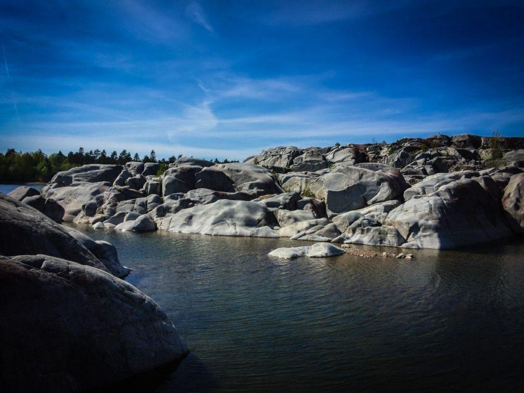Rocky outcrop in Swedish archipelago