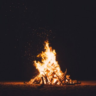 bonfire at night