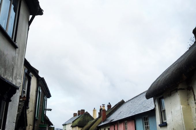 Roofs of Chulmleigh on a cloudy day