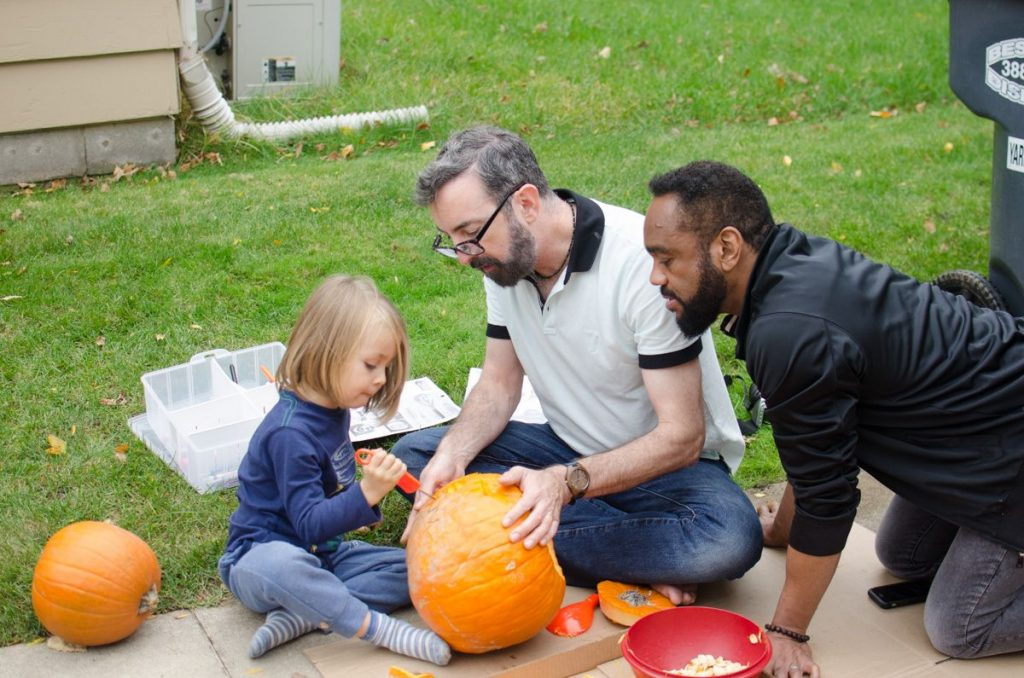 Carving pumpkins