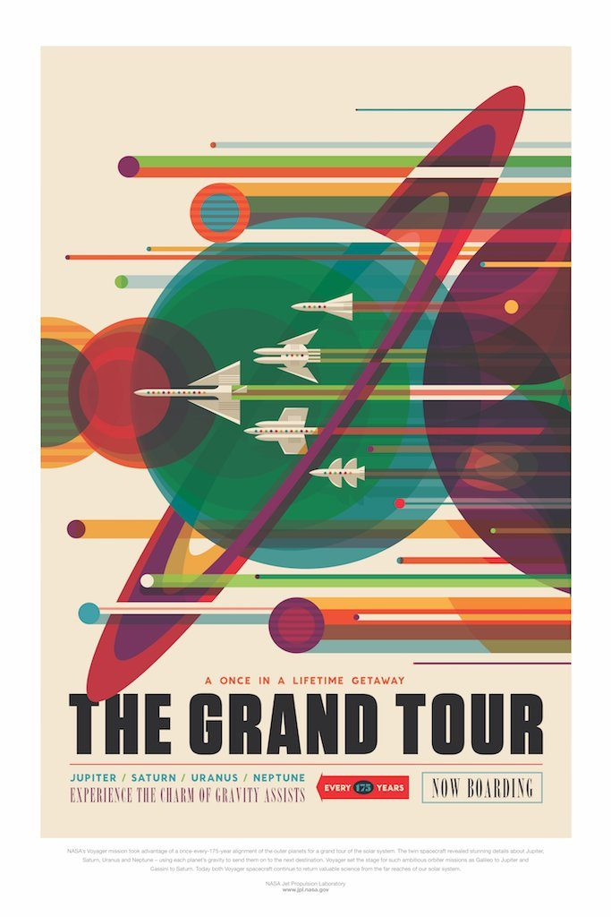 NASA JPL Grand Tour space poster
