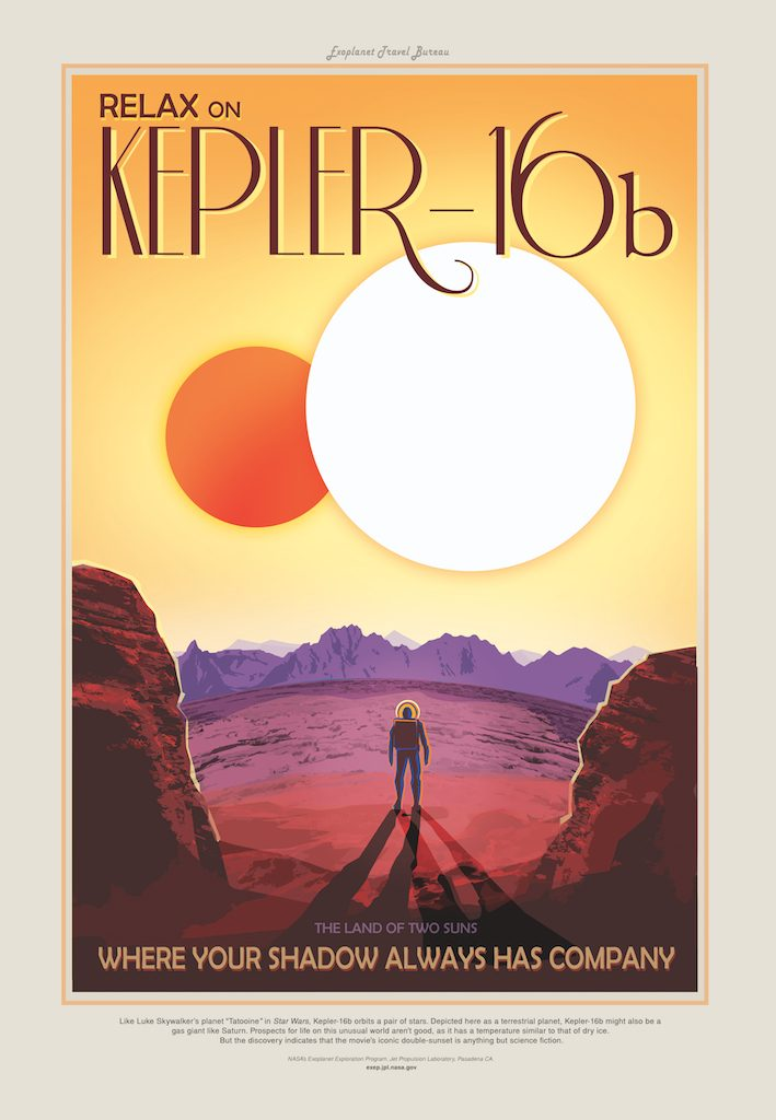 NASA JPL Kepler 16b Poster two suns