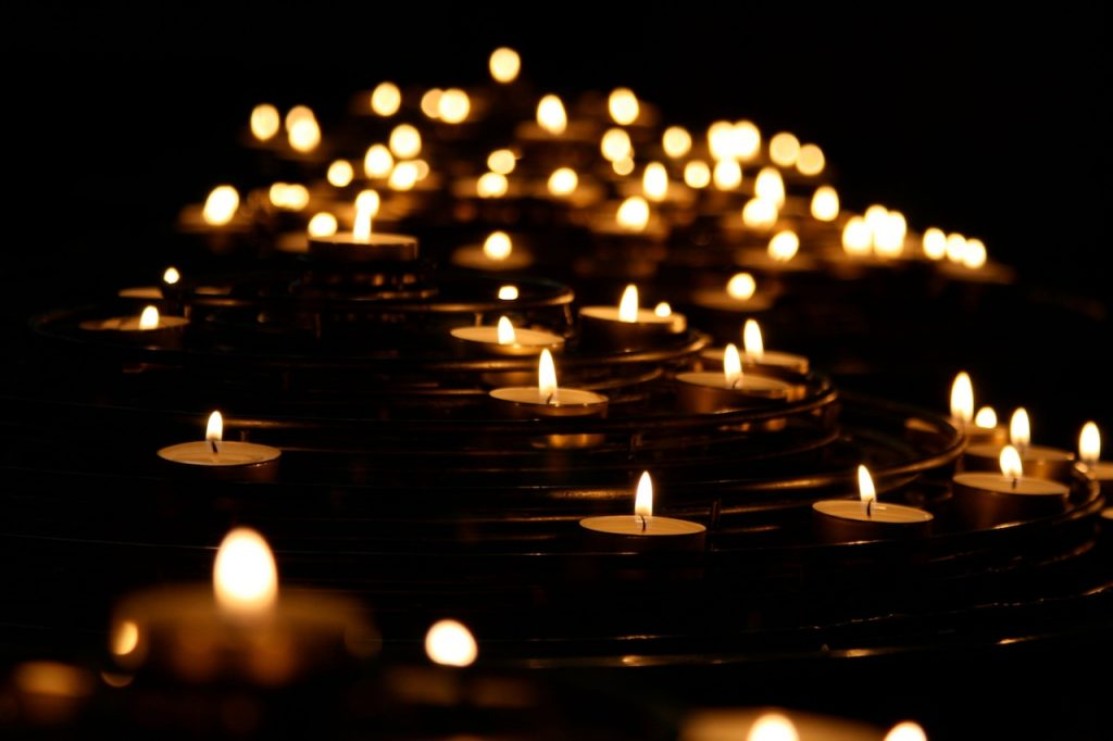 Candles floating