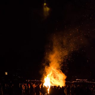 Bonfire at Rosendals Tradgard