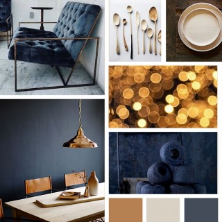Indulgent Blue Moodboard made with Photoshop for Dear Sabrina