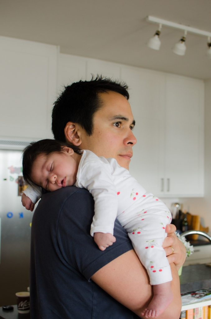 Baby Zoe with her papa