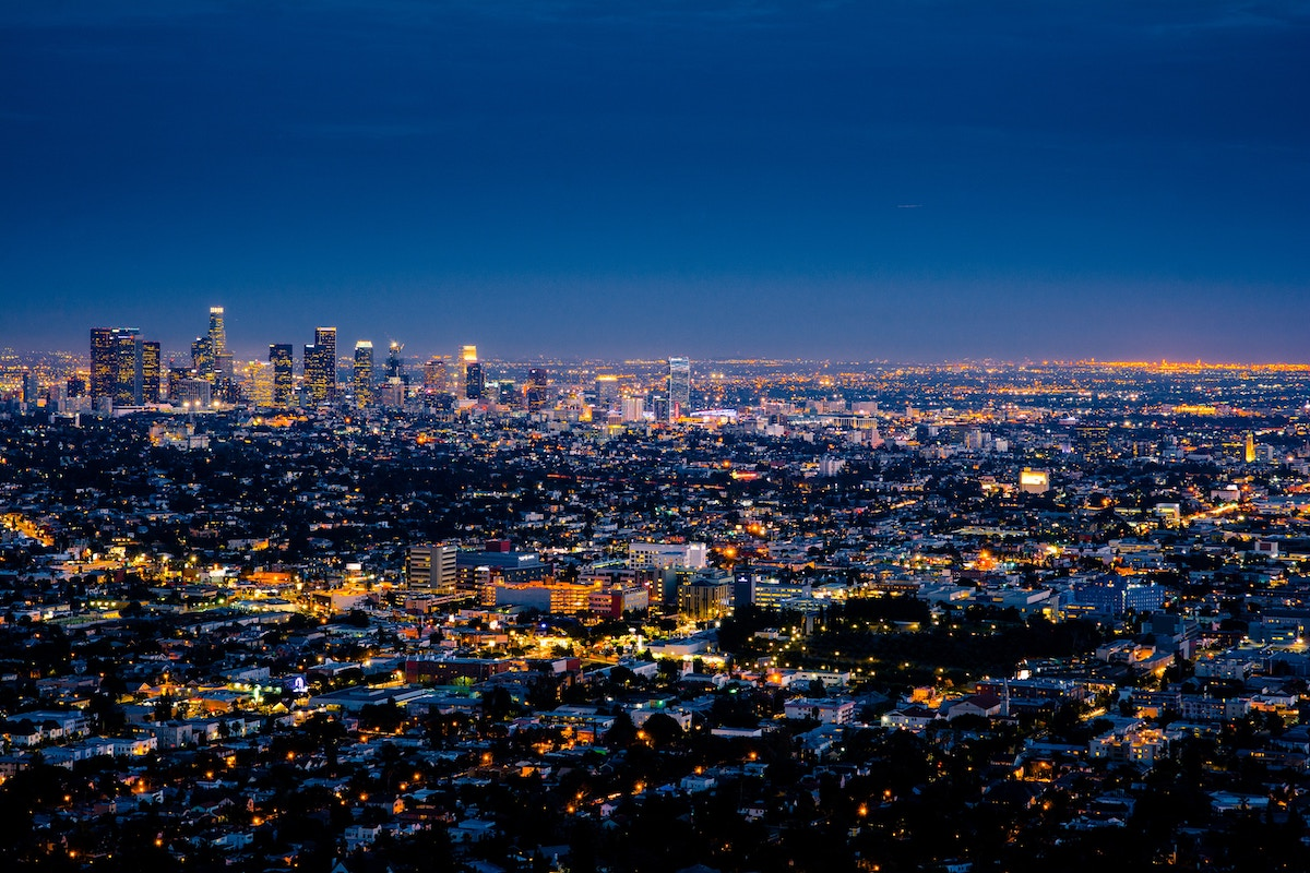 LA at night from Griffith Observatory