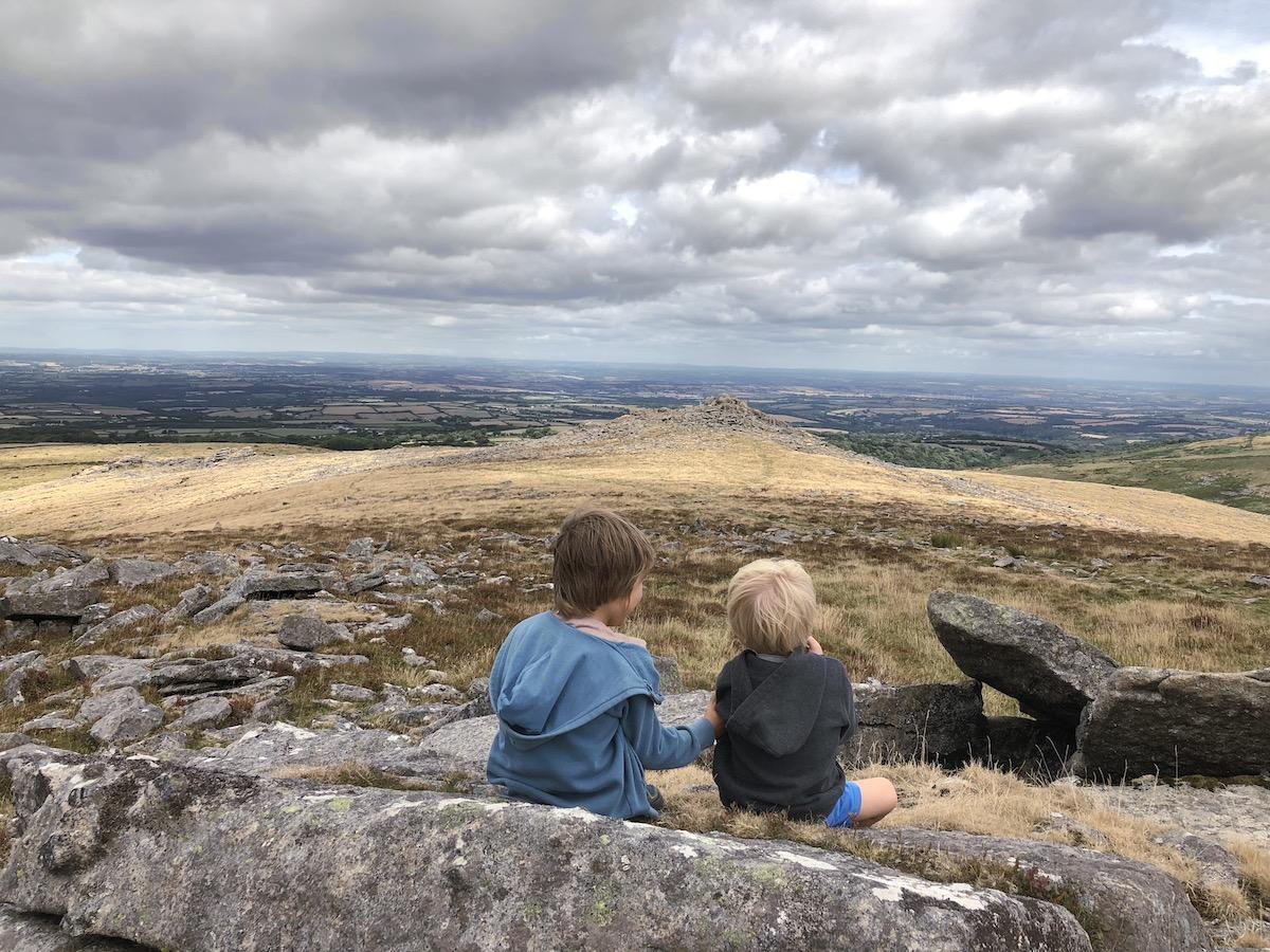 Atop a tor on Dartmoor