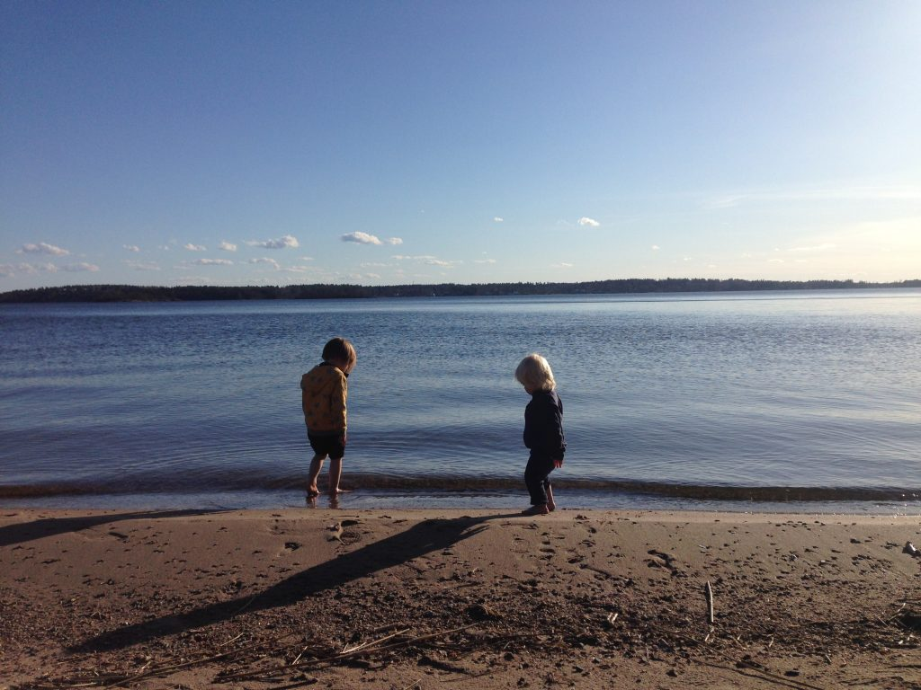 boys playing at stensnas