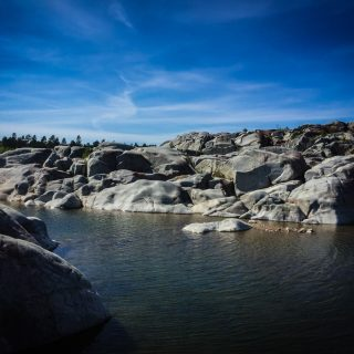 Rocky outcrop in Swedish archipelago