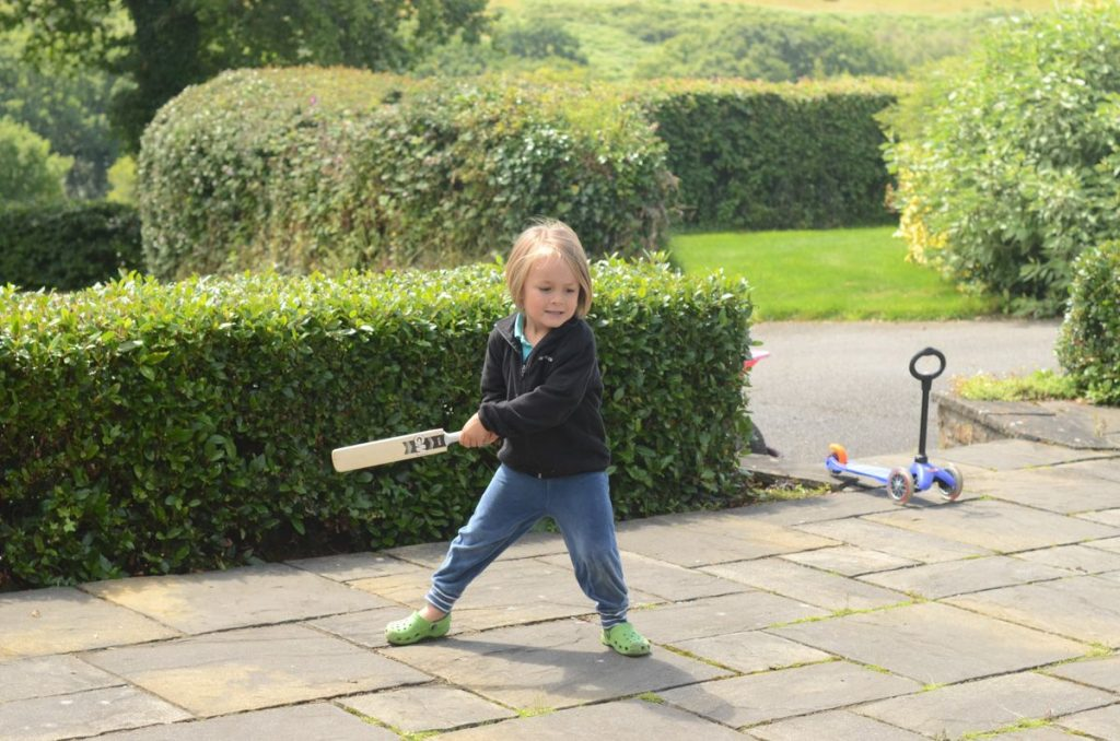 August playing cricket at South Beara