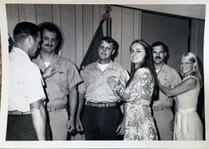 Bill Elliott receiving Navy wings