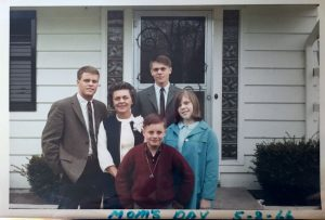 Bill as teen with family