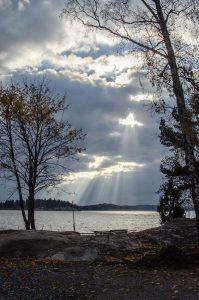 Rays of light over Baltic Sea