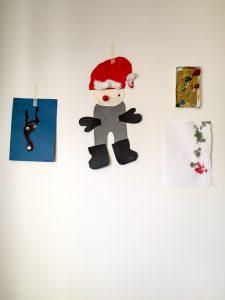 Kids' Christmas art