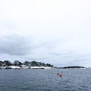 Swedish archipelago island in winter
