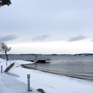 Archipelago view during Swedish winter