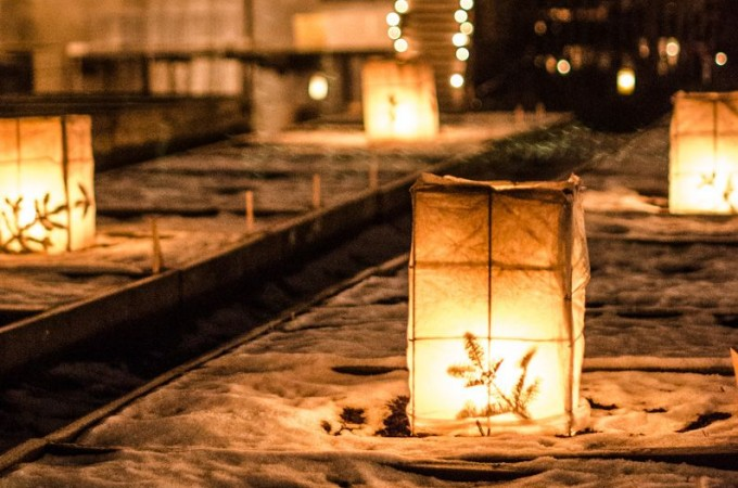 Winter lanterns at Rosendals Tradgarden