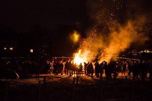 Bonfire at Rosendals