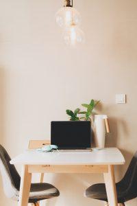 Computer and desk by Dawid Liberadzki
