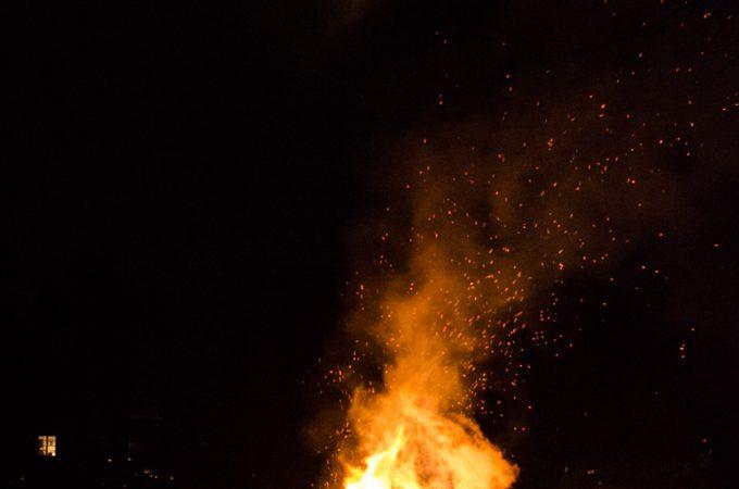 Bonfire at Rosendals Tradgard