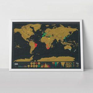 scratch map deluxe black