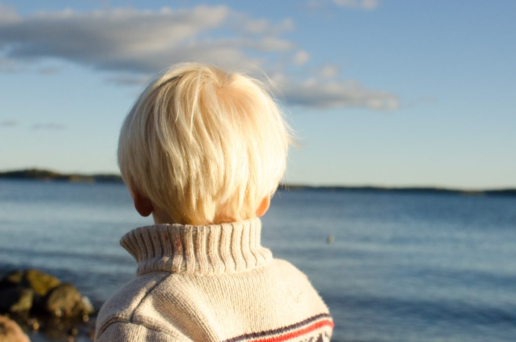Leif looking out to sea
