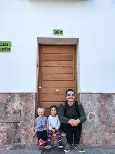 Sitting in a doorstep in Nerja, Costa del Sol, Spain
