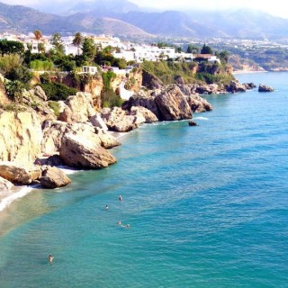 Nerja sea and landscape
