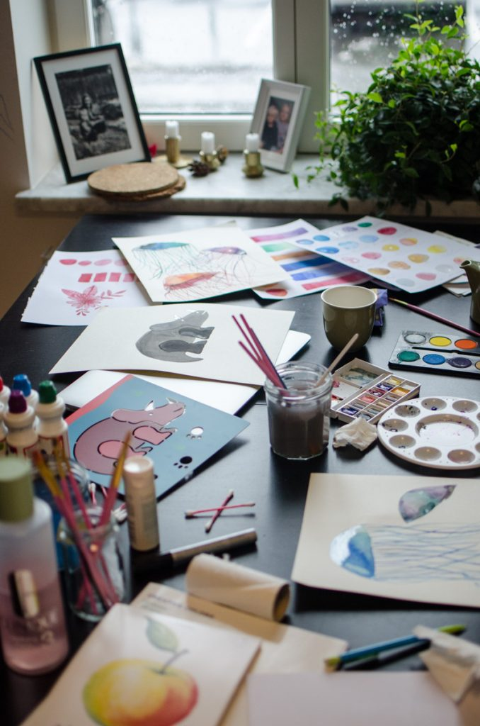 Happiness project, watercolor painting with Skillshare