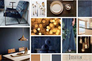 Indulgent Blue Moodboard made with Photoshop for Dear Sabrina
