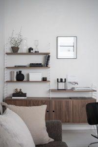 Classic Scandinavian design, string shelving
