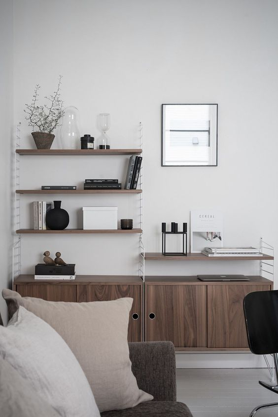 Classic Scandinavian design, string shelving