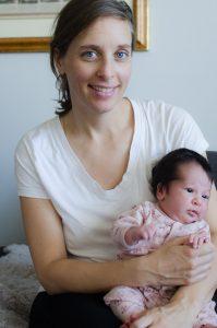Baby Zoe with mama