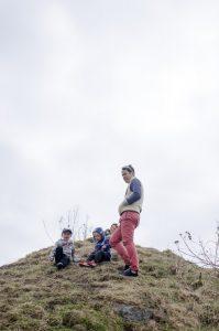 Boys on a hill
