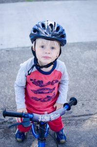 Leif in bicycle helmet