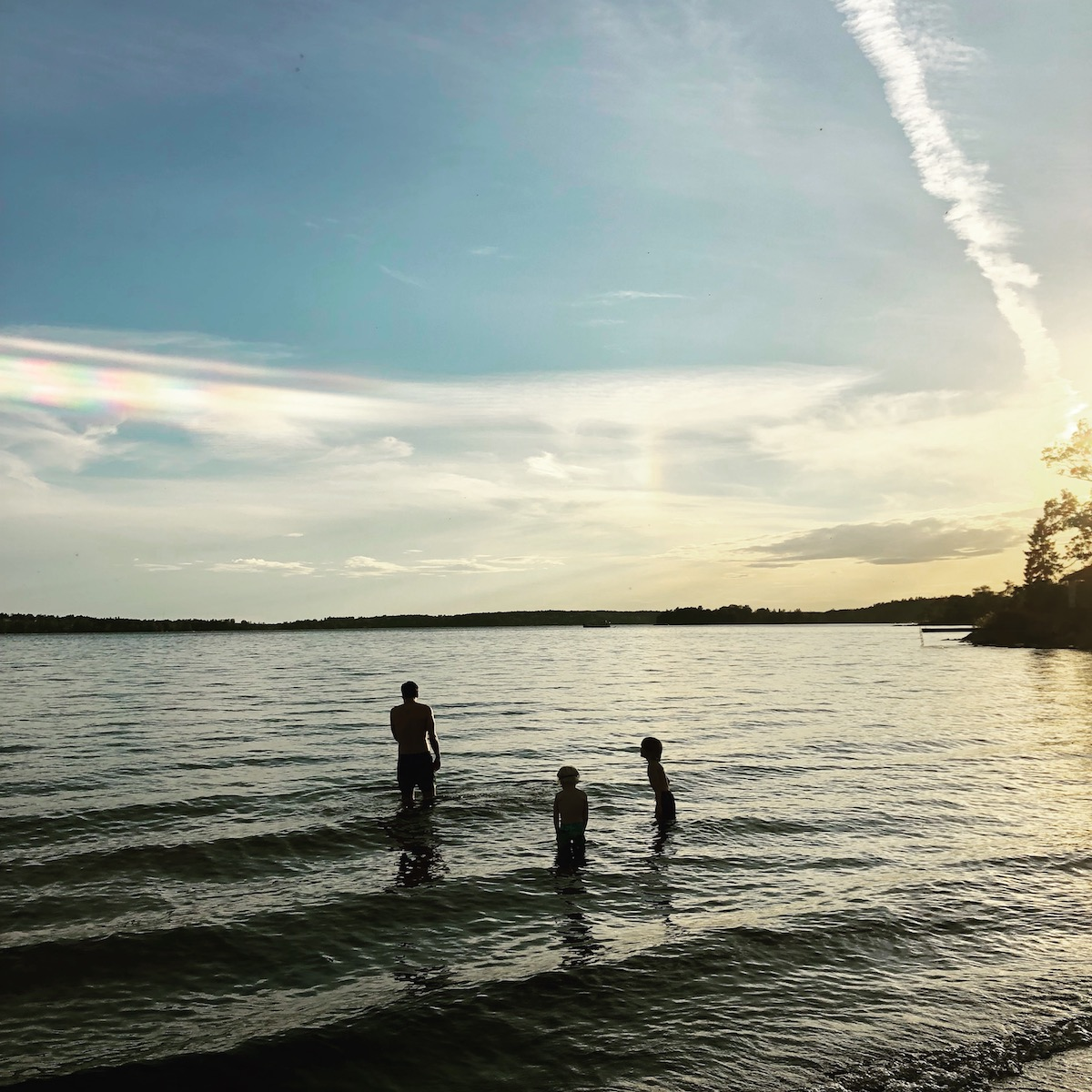 Sunset swim in the Baltic