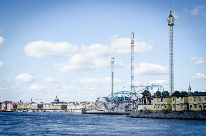 Grona Lund and Stockholm from the water