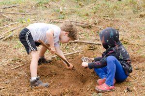 Digging to find water at FFS