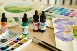 Watercolor scene with Dr PH Martins